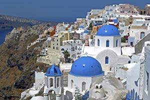 The Town of Oia on the Island of Santorini, Greece by David Noyes