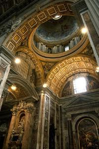 Vatican City, Rome, Italy, Ceiling Inside Saint Peter's Basilica by David Noyes