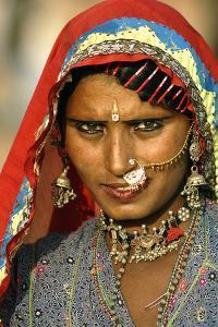Women of Semi-Nomadic Groups, Rajasthan, Pushkar, India by David Noyes