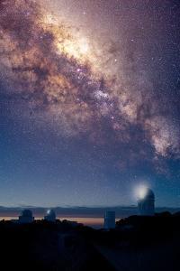 Kitt Peak Observatory And Milky Way by David Nunuk