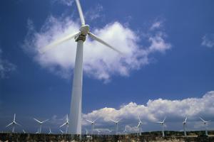 Wind Turbines At Power Station, Hawaii by David Nunuk