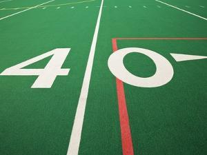 Forty Yard Maker on Football Field by David Papazian