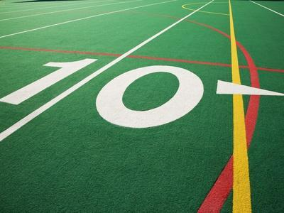 Ten Yard Maker on Football Field