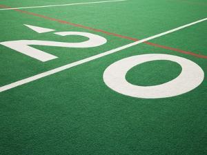 Twenty Yard Maker on Football Field by David Papazian