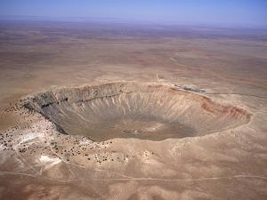 Aerial View of Meteor Crater, Arizona by David Parker