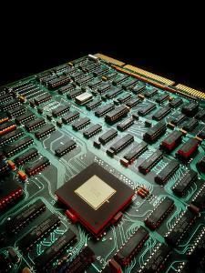 Circuit Board From a Mainframe Computer by David Parker