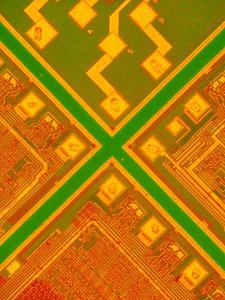 LM of 3 Memory Silicon Chips by David Parker
