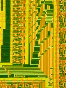 LM of Part of the Surface of a Silicon Chip by David Parker
