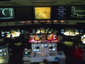 Mission Control At JPL, Pasadena, California by David Parker