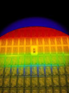 Silicon Chip Wafer by David Parker