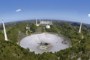 Upgraded Arecibo Radio Telescope with Subreflector by David Parker