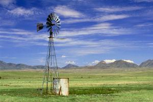 Windmill on Prairie Land, New Mexico by David Parker