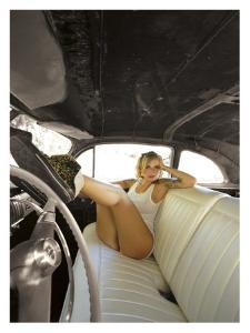 Hot Rod Pin-Up Girl by David Perry