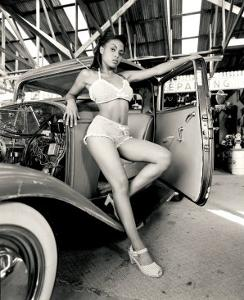 Pin-Up Girl: 1932 Deuce Coupe Garage by David Perry