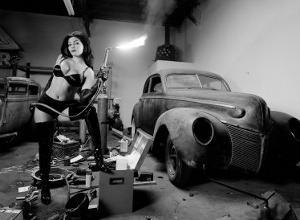 Pin-Up Girl: Rat Rod Blow Torch by David Perry