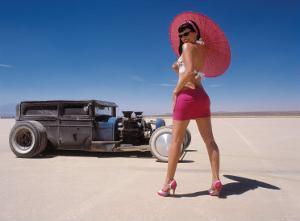 Pin-Up Girl: Salt Flat Rat Rod by David Perry