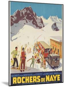 Rochers De Naye, Swiss Ski Travel Poster by David Pollack
