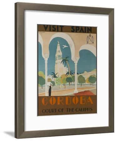 Visit Spain, Cordoba Court of the Caliphs Spanish Travel Poster by David Pollack