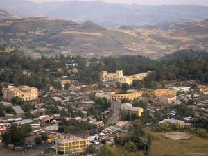 Aerial View of the Town Taken from Goha Hotel, Gondar, Ethiopia, Africa by David Poole