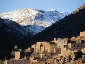Berber Village in Ouarikt Valley, High Atlas Mountains, Morocco, North Africa, Africa by David Poole