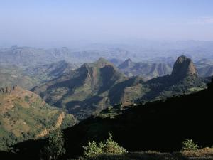 Foothills of the Mountain Range, Simien Mountains, Ethiopia, Africa by David Poole