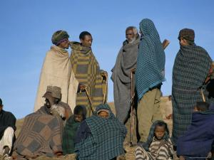 Local People, Debirichwa Village, Simien Mountains National Park, Ethiopia, Africa by David Poole