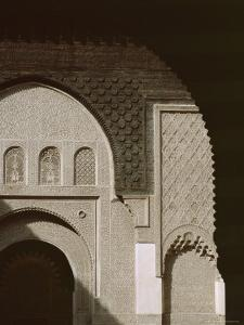 Mouldings Over Arched Doorway, Ben Youssef Medersa, Marrakech (Marrakesh), North Africa by David Poole