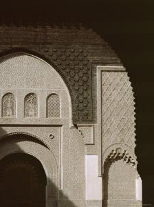 Mouldings Over Arched Doorway, Ben Youssef Medersa, Marrakech (Marrakesh), North Africa by David Poole