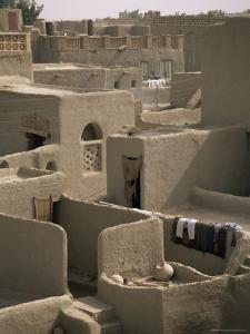 Mud-Walled Houses, Mopti, Mali, Africa by David Poole