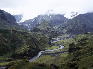 Porsmork Valley, Iceland, Polar Regions by David Poole