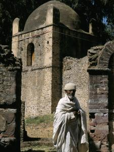Priest Caretaker, Kuskuam (Kusquam) Church, Gondar, Ethiopia, Africa by David Poole