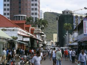 Street Scene, Farquhar Street, Port Louis, Mauritius, Indian Ocean, Africa by David Poole