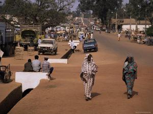 Street Scene in Centre of Town, Garowa, Cameroon, Africa by David Poole