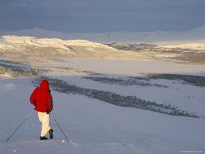 View Over Frozen Lake Furusjoen, Rondablikk, Norrway, Scandinavia by David Poole