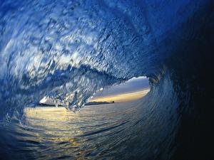 Inside Breaking Ocean Wave by David Pu'u