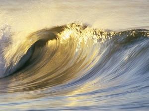 Ocean Wave Breaking by David Pu'u