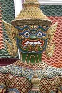 Buddhist Mythology Yaksa, Temple of the Emerald Buddha, Bangkok, Thailand by David R. Frazier