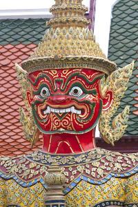 Buddhist Mythology Yaksa, Temple of the Emerald Buddha, Bangkok, Thailand by David R^ Frazier