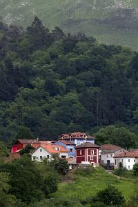 Colorful Houses Near Las Rozas, Asturias, Spain by David R^ Frazier