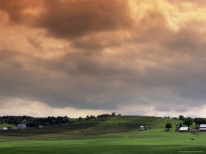 Fields on a Farm, LA by David R^ Frazier