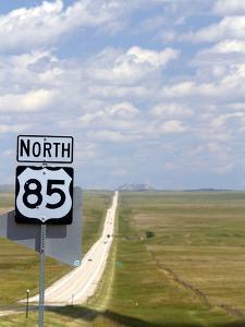 Highway 85 North Road Sign, South Dakota, USA by David R^ Frazier