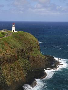Kilauea Lighthouse Located on Kilauea Point on the Island of Kauai, Hawaii, USA by David R^ Frazier