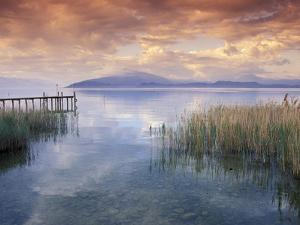 Scenic View from Shore, Lake Garda, Italy by David R^ Frazier