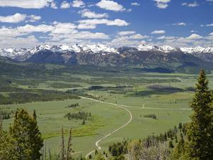 View of the Sawtooth Mountain Range from Galena Summit in Custer County, Idaho, Usa by David R^ Frazier