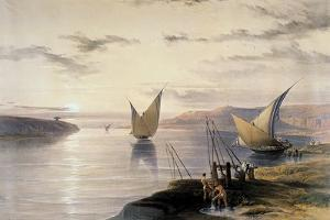 Boats on the Nile, C1838-1839 by David Roberts
