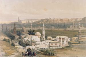 "Cairo from the Gate of Citizenib, Looking Towards the Desert of Suez, from ""Egypt and Nubia"", Vol.3 by David Roberts"