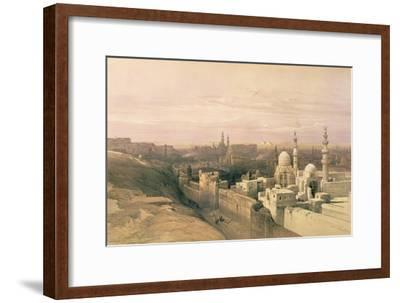"""Cairo, Looking West, Book Illustration from """"Sketches in Nubia"""", 1846-49"""