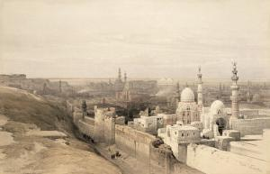 Cairo Looking West, from Egypt and Nubia, Vol.3 by David Roberts