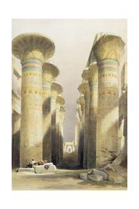 Central avenue of the Great Hall of Columns, Karnak, Egypt, 19th century by David Roberts