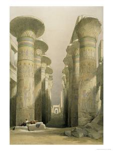 Central Avenue of the Great Hall of Columns by David Roberts